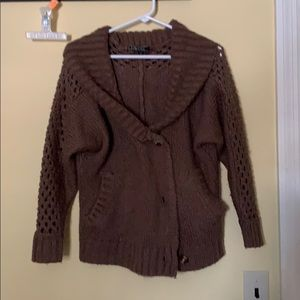 Chocolate Brown Sweater Cardigan